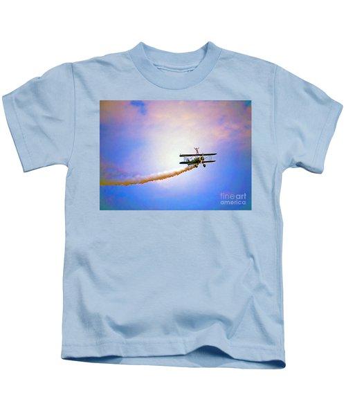 Bi-plane And Wing Walker Kids T-Shirt