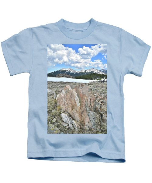 Big Horn Pass In Wyoming Kids T-Shirt
