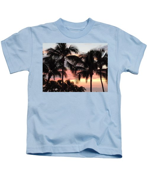 Big Island Sunset 1 Kids T-Shirt