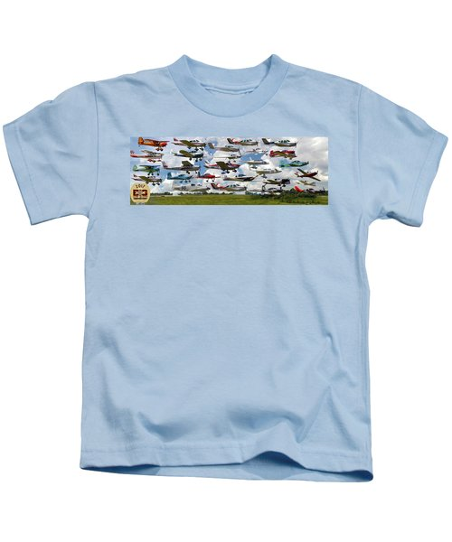 Big Muddy Fly-by Collage Kids T-Shirt