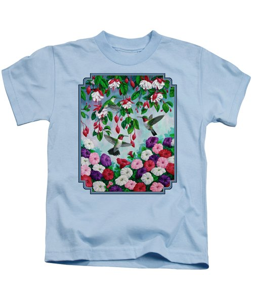 Bird Painting - Hummingbird Heaven Kids T-Shirt