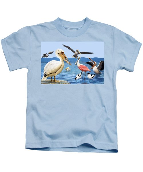 Birds With Strange Beaks Kids T-Shirt