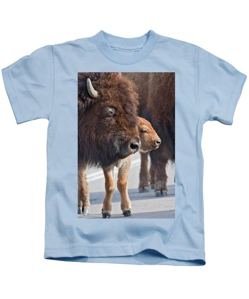 Bison Family Kids T-Shirt