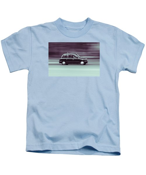 Black Taxi Bw Blur Kids T-Shirt