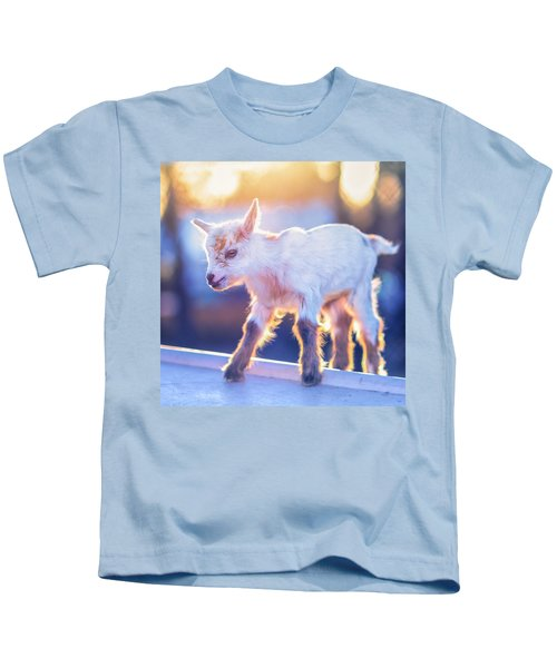 Little Baby Goat Sunset Kids T-Shirt