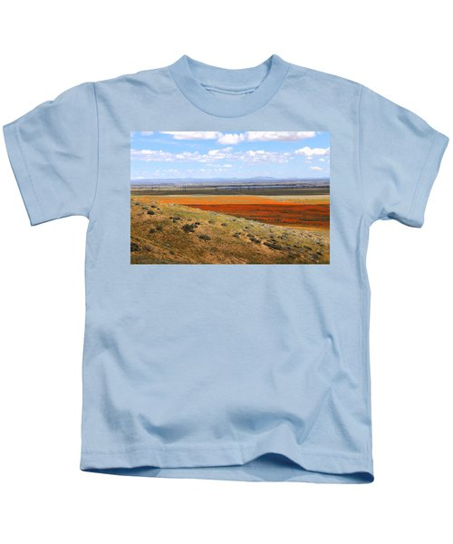 Blooming Season In Antelope Valley Kids T-Shirt