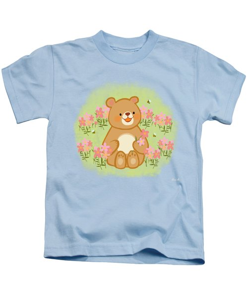 Blossoms Bees And A Bear Kids T-Shirt