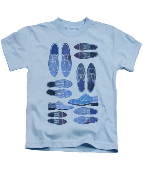 Blue Brogue Shoes Kids T-Shirt