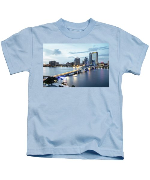 Blue Hour In Jacksonville Kids T-Shirt