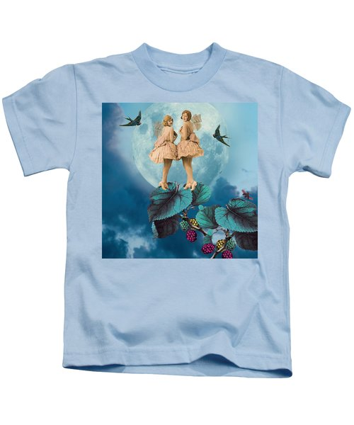 Blue Moon Kids T-Shirt by Olga Snell