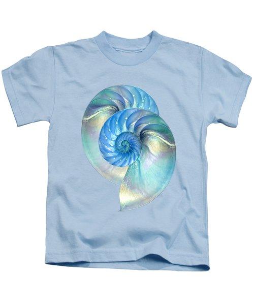 Blue Nautilus Pair Kids T-Shirt