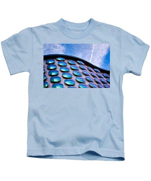 Blue Polka-dot Wave Kids T-Shirt