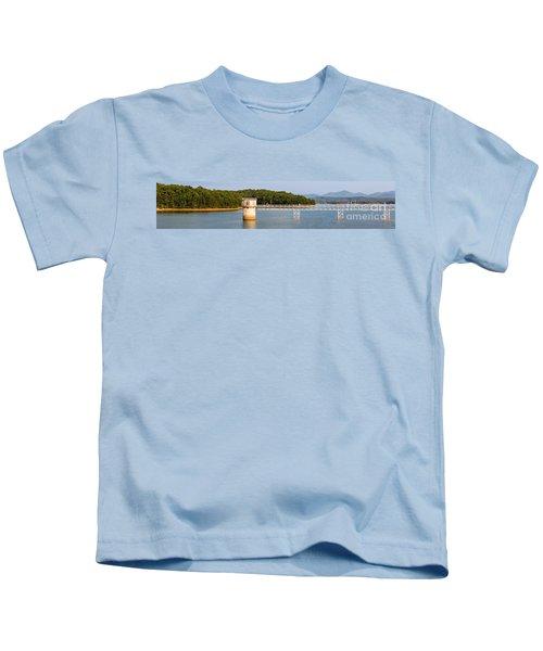 Blue Ridge Dam - Panoramic Kids T-Shirt