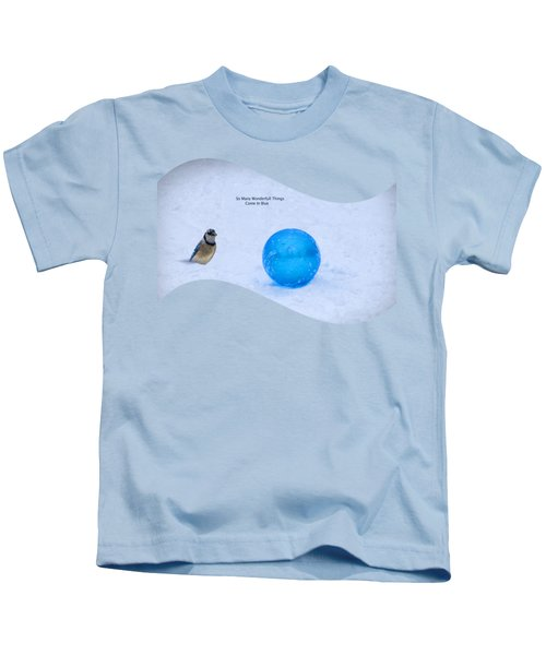 Blue Winter Kids T-Shirt