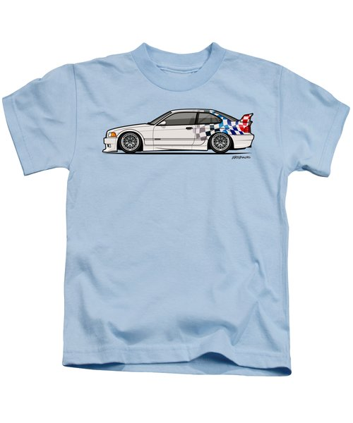 Bmw 3 Series E36 M3 Gtr Coupe Touring Car Kids T-Shirt