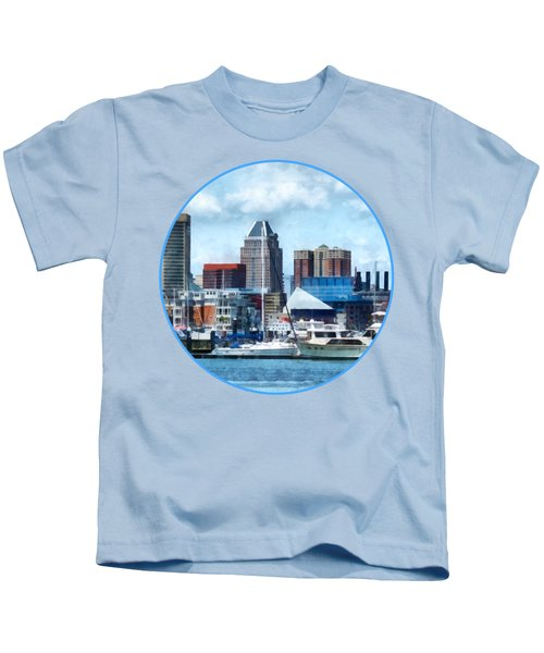 Boat - Baltimore Skyline And Harbor Kids T-Shirt