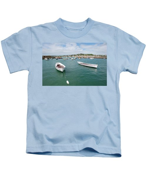 Boats In Habour Kids T-Shirt