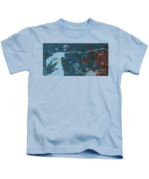 Boston Red Sox Player On Boston Harbor Map, Vintage Blue Kids T-Shirt