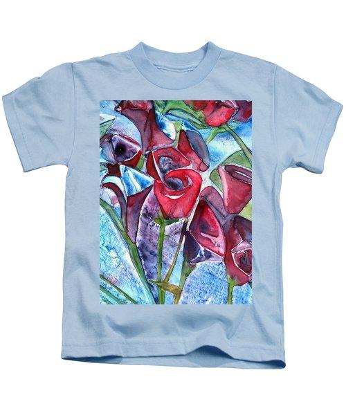 Bouquet Of Roses Kids T-Shirt