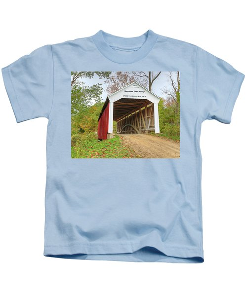 Bowser Ford Covered Bridge Kids T-Shirt
