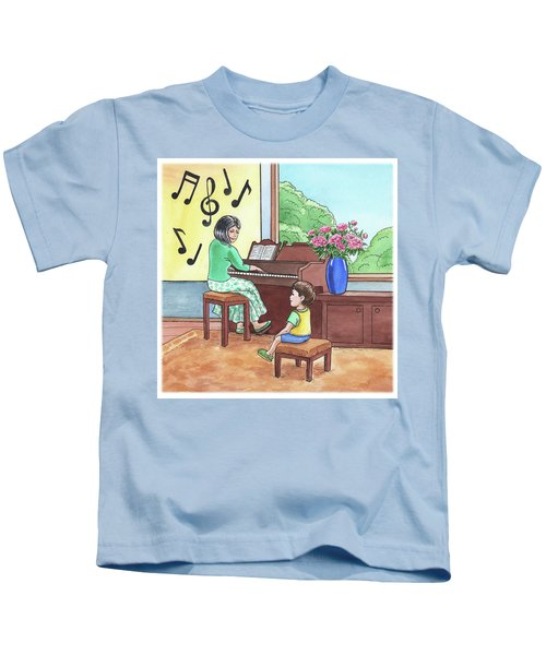 Boy At The Music School  Kids T-Shirt