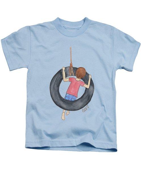 Boy On Swing 1 Kids T-Shirt