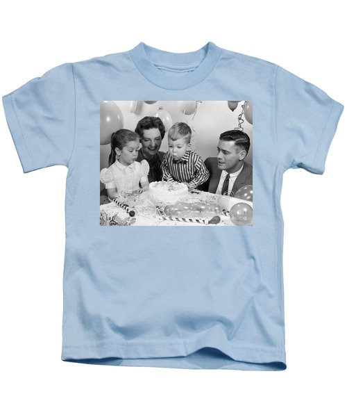 Boys Second Birthday Party C1950s Kids T Shirt