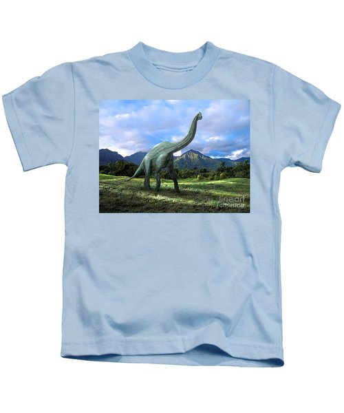 Brachiosaurus In Meadow Kids T-Shirt