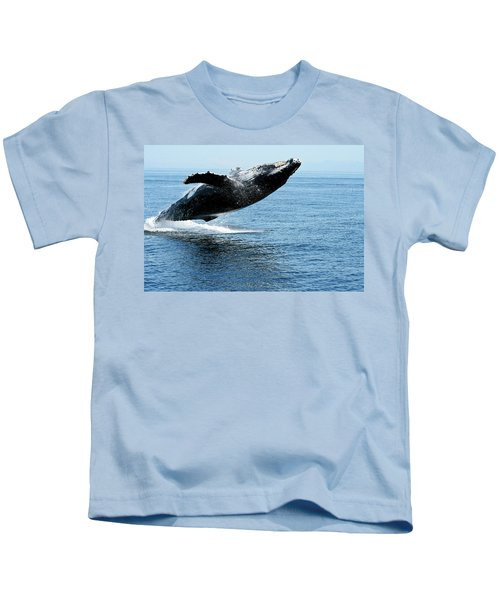 Breaching Humpback Whales Happy-2 Kids T-Shirt