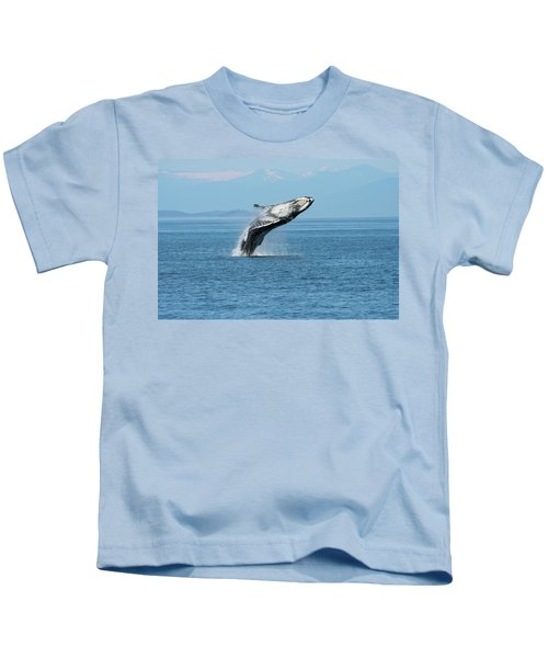 Breaching Humpback Whales Happy-3 Kids T-Shirt