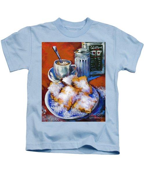 Breakfast At Cafe Du Monde Kids T-Shirt