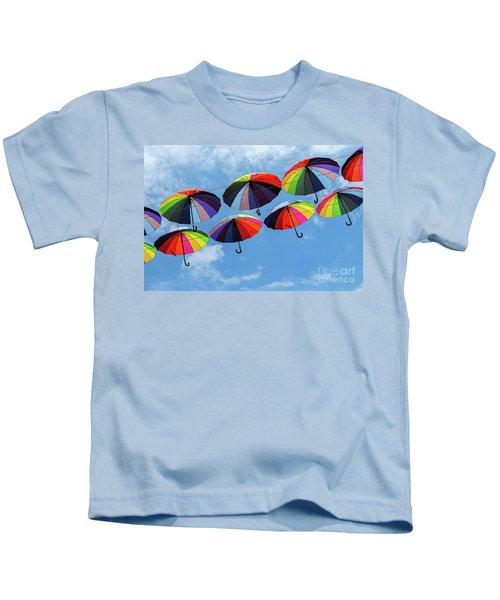 Bright Colorful Umbrellas  Kids T-Shirt