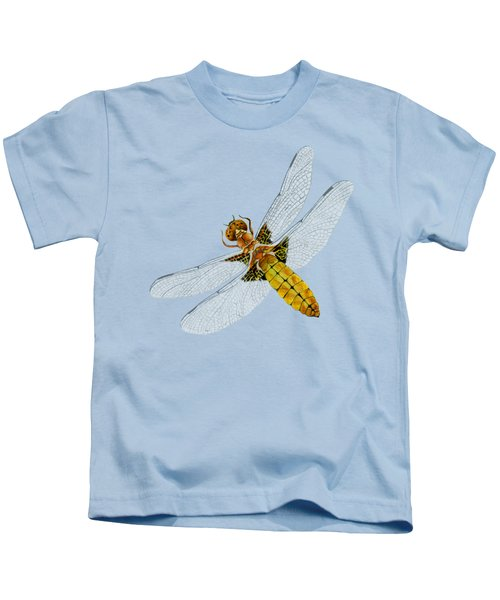 Broad-bodied Chaser Yellow Dragonfly Kids T-Shirt