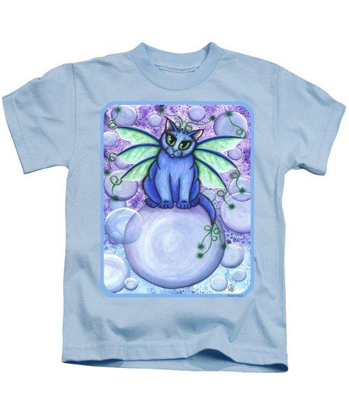 Bubble Fairy Cat Kids T-Shirt