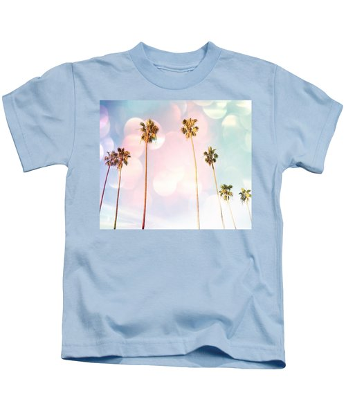 Bubble Gum Palm Trees Kids T-Shirt