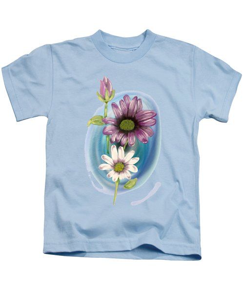 Bud And  Flowers Kids T-Shirt