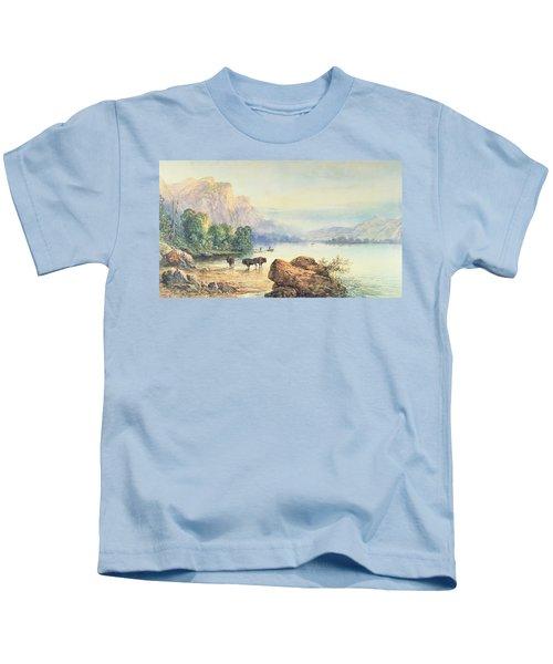 Buffalo Watering Kids T-Shirt
