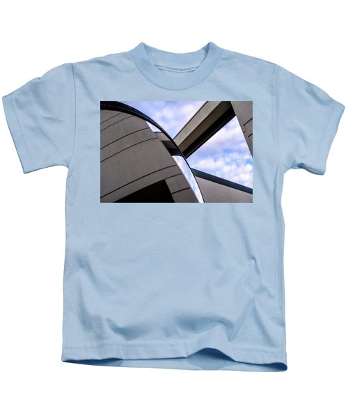 Buildings And Shapes With A Blue Sky In Orlando Florida Kids T-Shirt