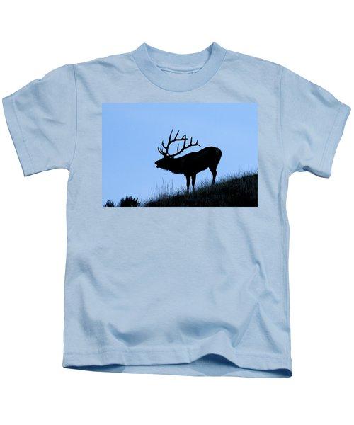 Bull Elk Silhouette Kids T-Shirt