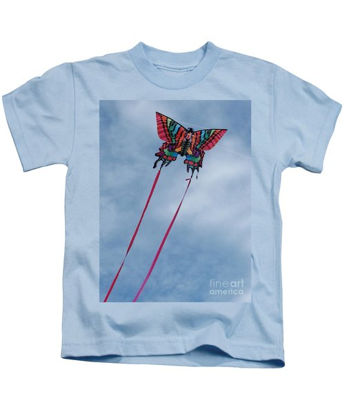 Butterfly Kite 3 Kids T-Shirt