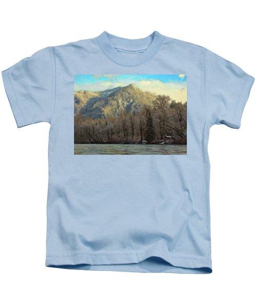 Cabin On The Skagit River Kids T-Shirt