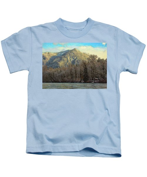 Cabin On The Skagit River Kids T-Shirt