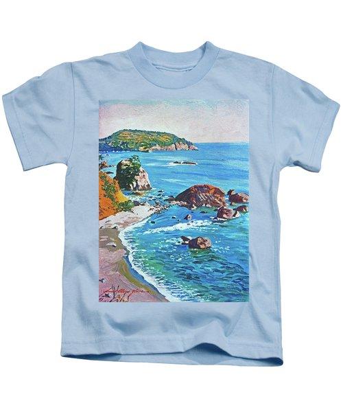 California Coastline Kids T-Shirt