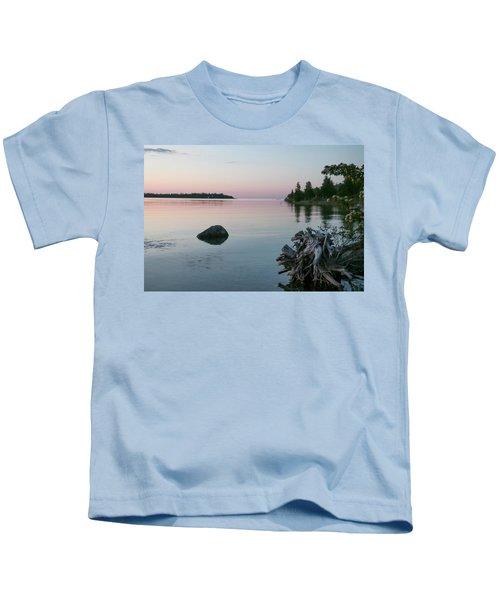 Calm Water At Lake Huron Crystal Point Kids T-Shirt