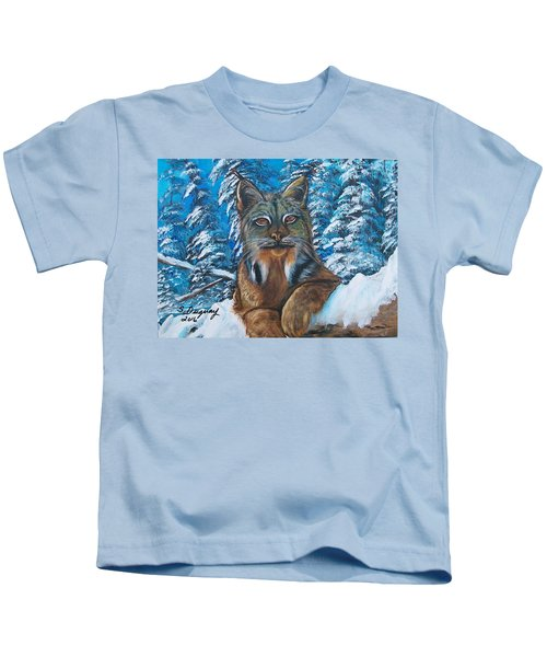 Canadian Lynx Kids T-Shirt