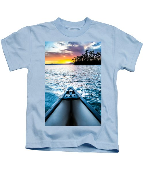 Canoeing In Paradise Kids T-Shirt