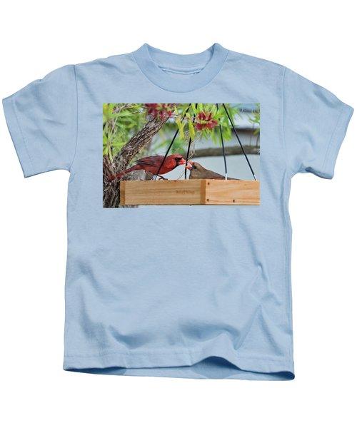 Cardinal Feeding  Kids T-Shirt