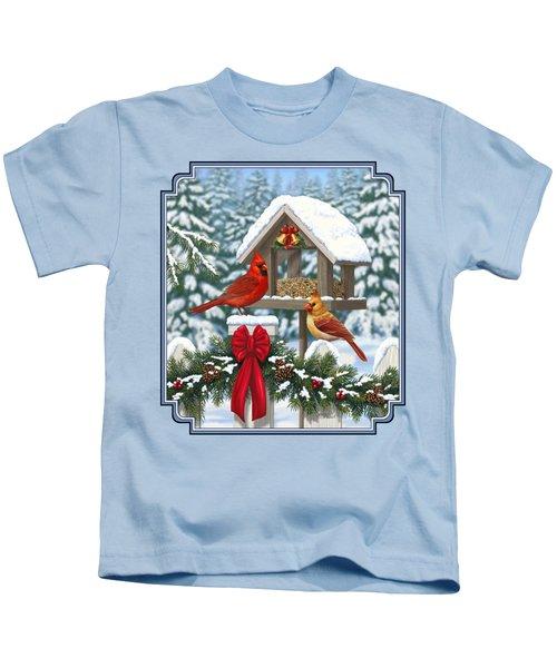 Cardinals Christmas Feast Kids T-Shirt