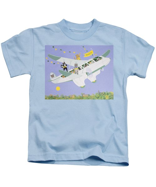 Cat Air Show Kids T-Shirt