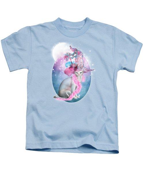 Cat In Fancy Witch Hat 4 Kids T-Shirt